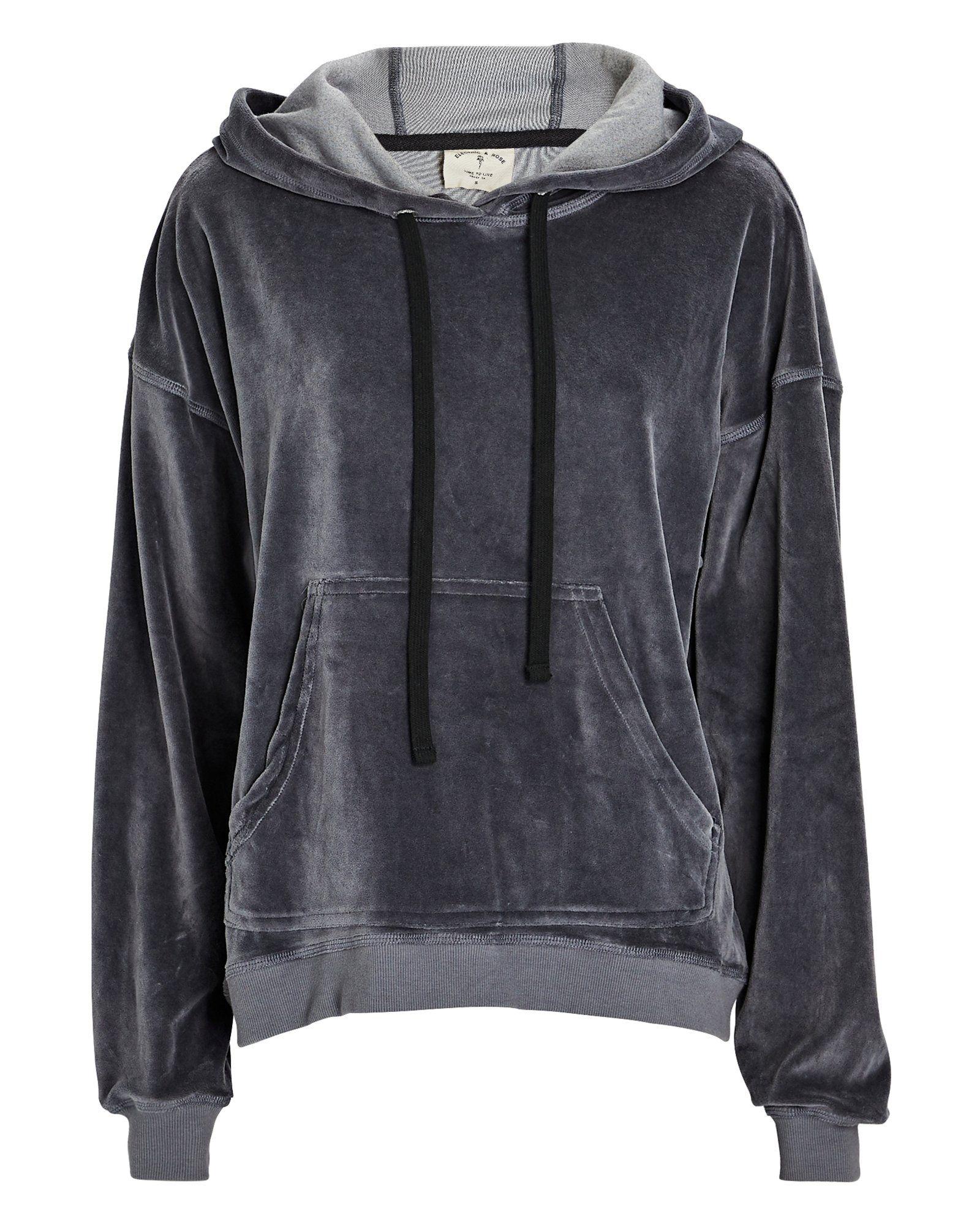 Mateo Hooded Velour Sweatshirt In 2021 Womens Designer Hoodies Hoodie Design Sweatshirts [ 2000 x 1600 Pixel ]