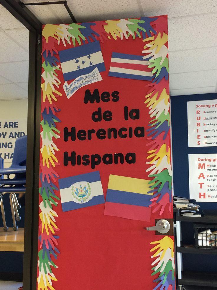 Spanish Classroom Door Decorations ~ Hispanic heritage month door decorating spanish