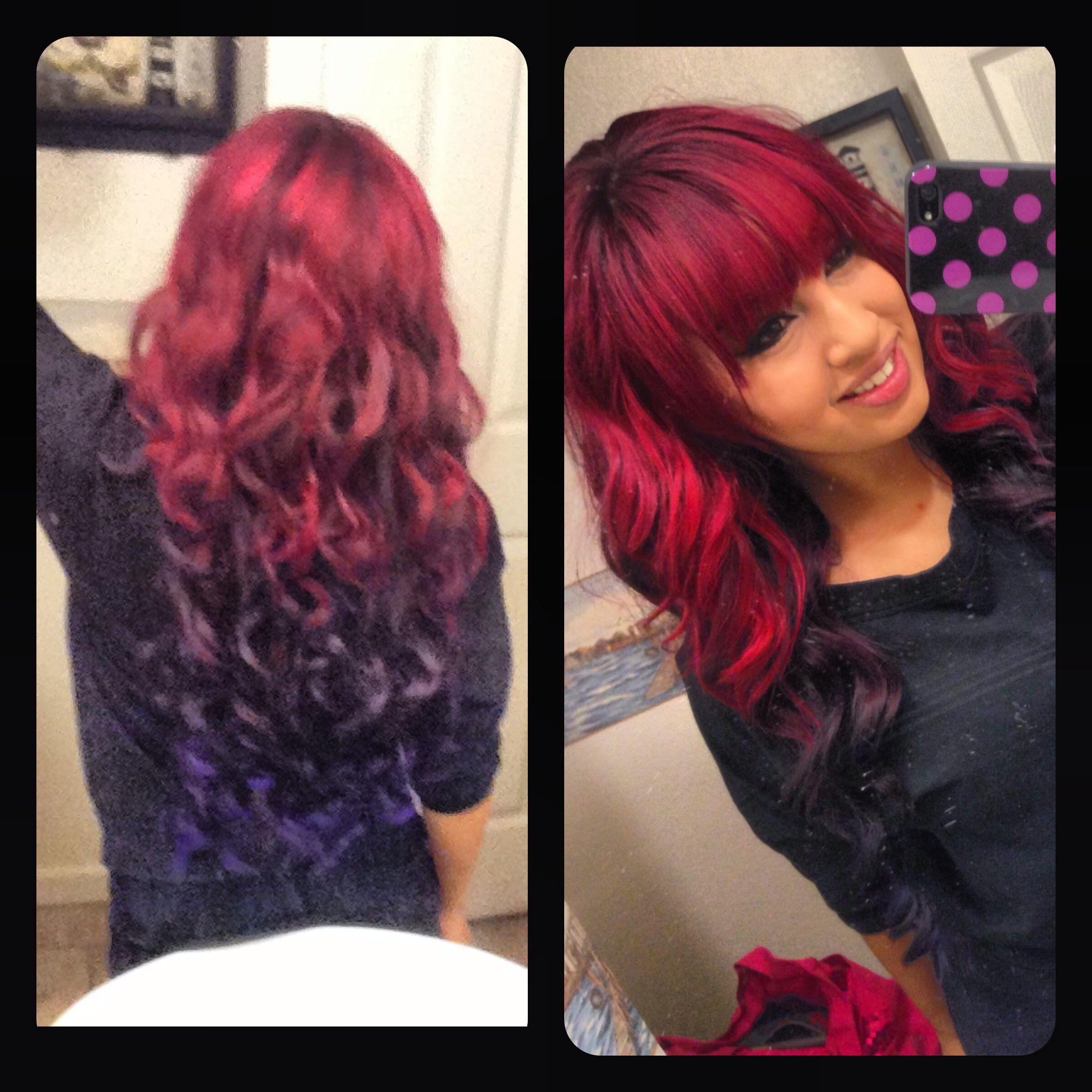 red purple ombre   Hai...