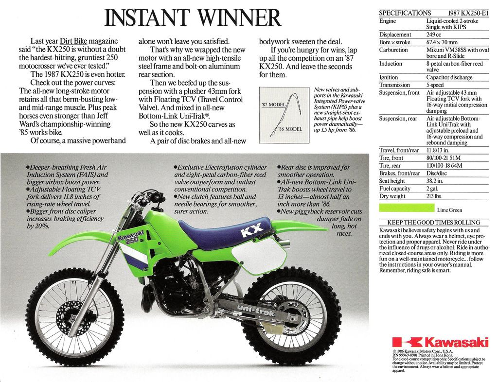 1987 kx250 dirt bikes 3 4wheelers now and then pinterest rh pinterest co uk 1979 KX 250 1992 KX 250