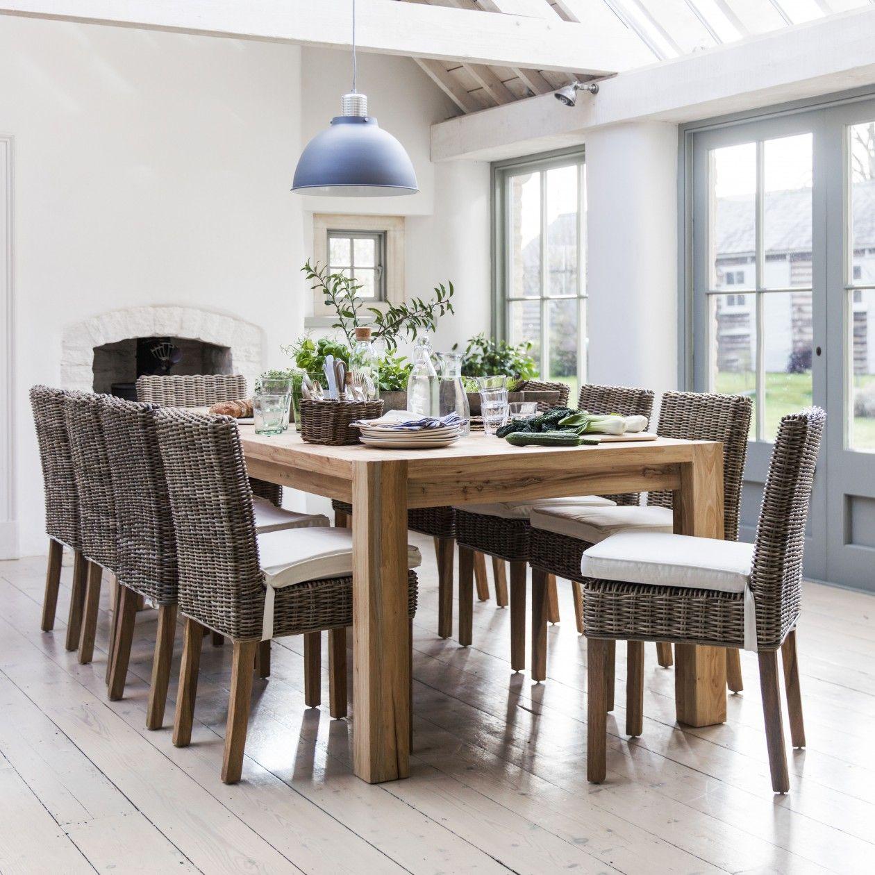 Hanborough 10 Seater Dining Table   Elm