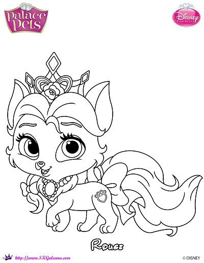 Free Princess Palace Pets Rouge Coloring Page Princess Coloring Pages Disney Princess Coloring Pages Puppy Coloring Pages