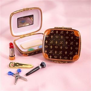 Limoges Brown Make Up Case Box | The Cottage Shop