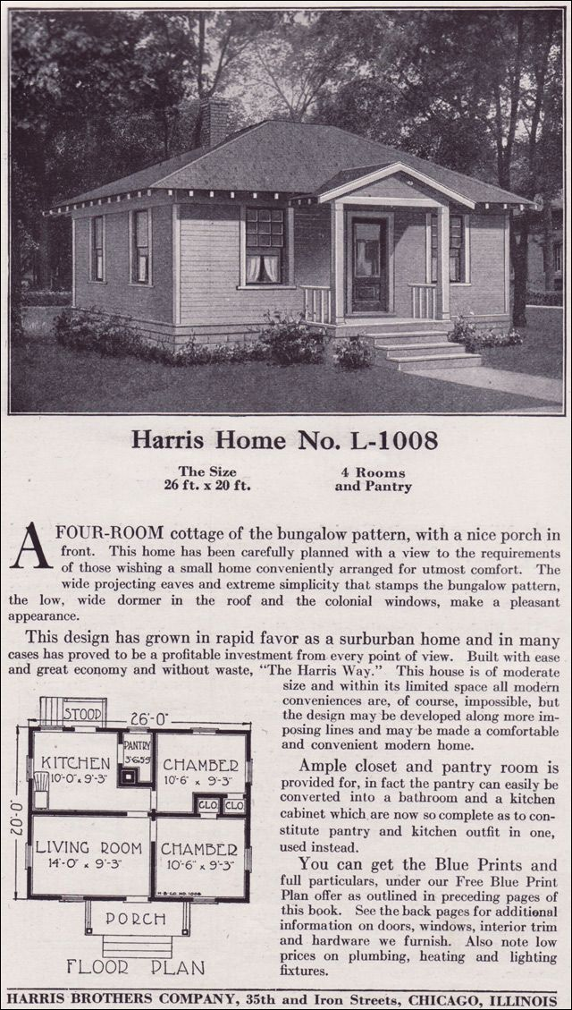 Classic cottage tiny kit homes of the wwi period for Classic cottage house plans