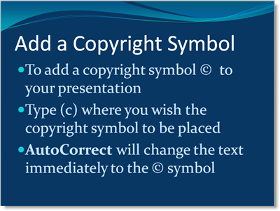 How Do You Insert A Copyright Symbol Or Emoji In Powerpoint
