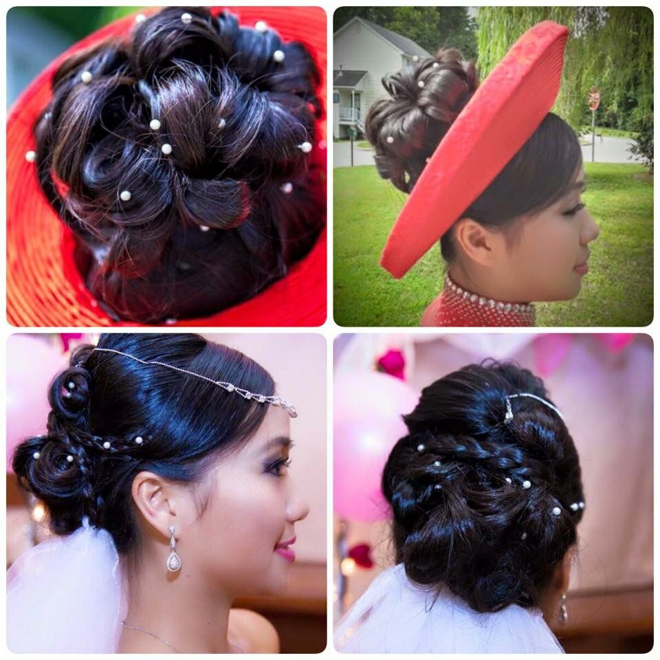 hairstyle with vietnamese traditional 'ao dai