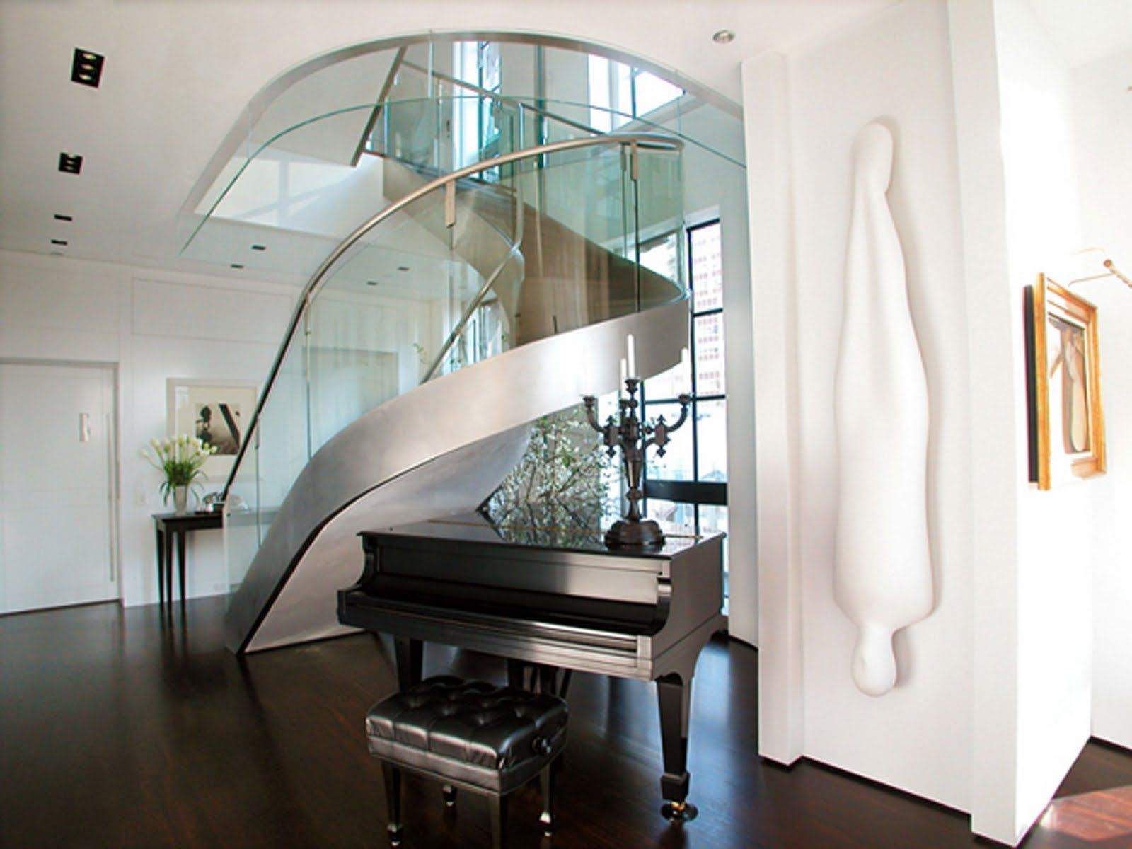 Best Modern Clear Glass Spiral Staircase Together Stainless 400 x 300