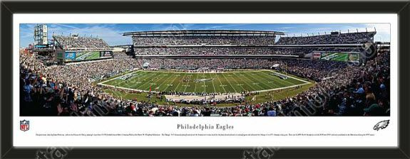 One large Philadelphia Eagles stadium panoramic, framed to 39 x 13.5 inches.  $159.99 @ ArtandMore.com
