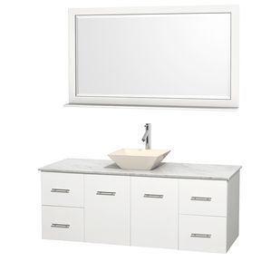 Wyndham Collection Centra 60 in. Single Bathroom Vanity in White