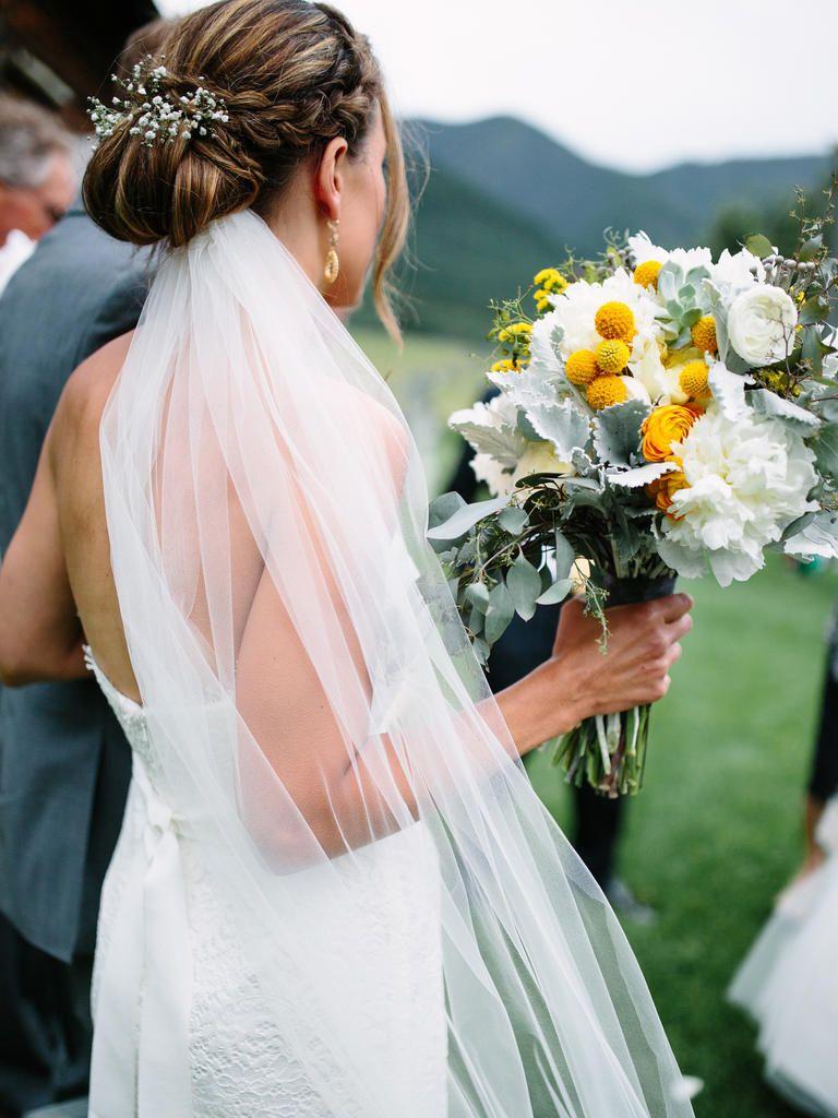 13 bridal braided updo ideas with flowers | wedding