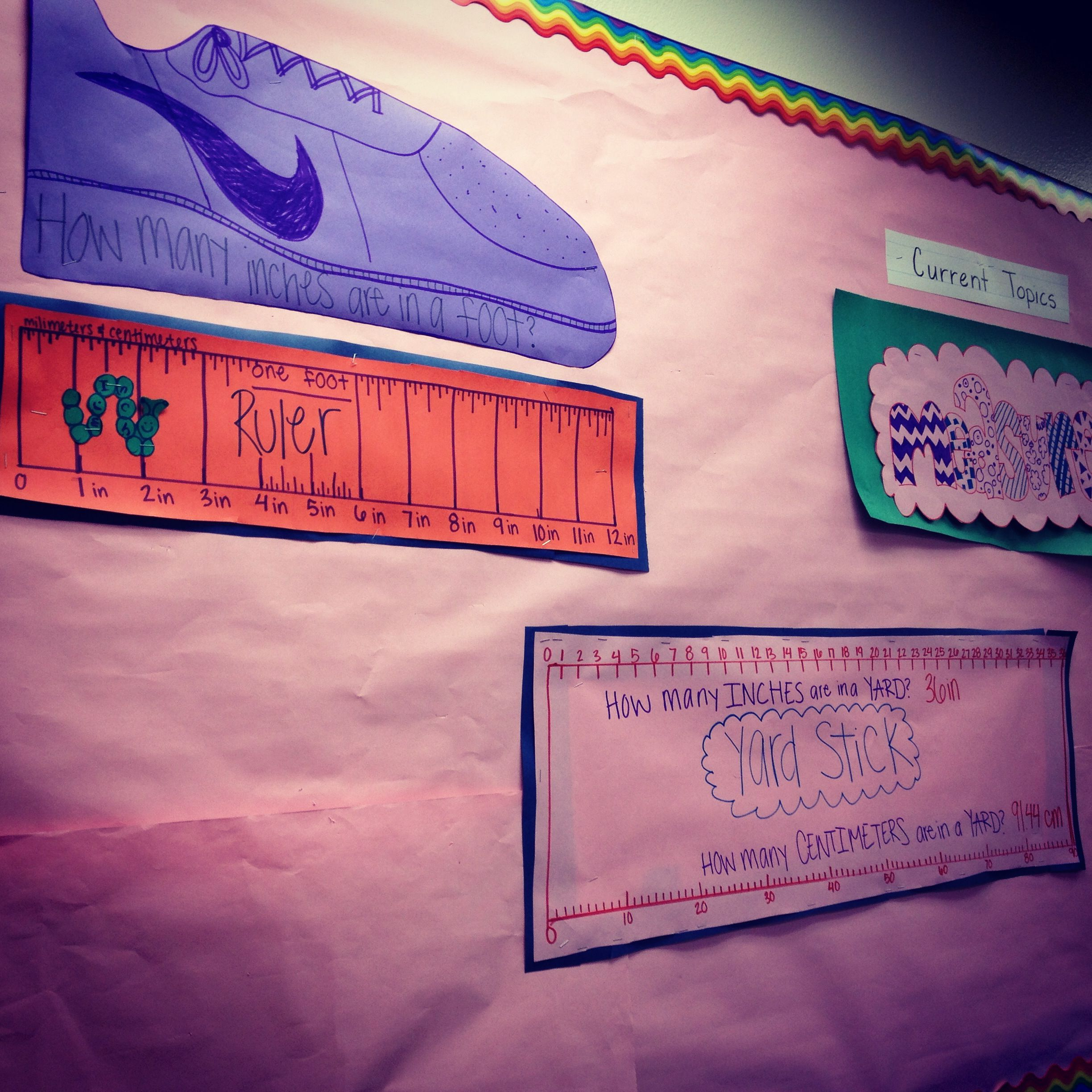 Third Grade Measurement Board The Kids Loved The Nike