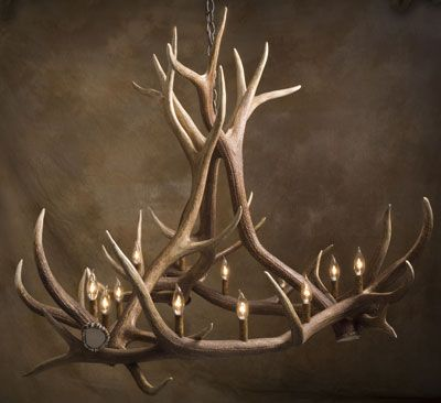 Antler chandelierfor the fancy dinners at the deer camp antler chandelierfor the fancy dinners at the deer camp aloadofball Images