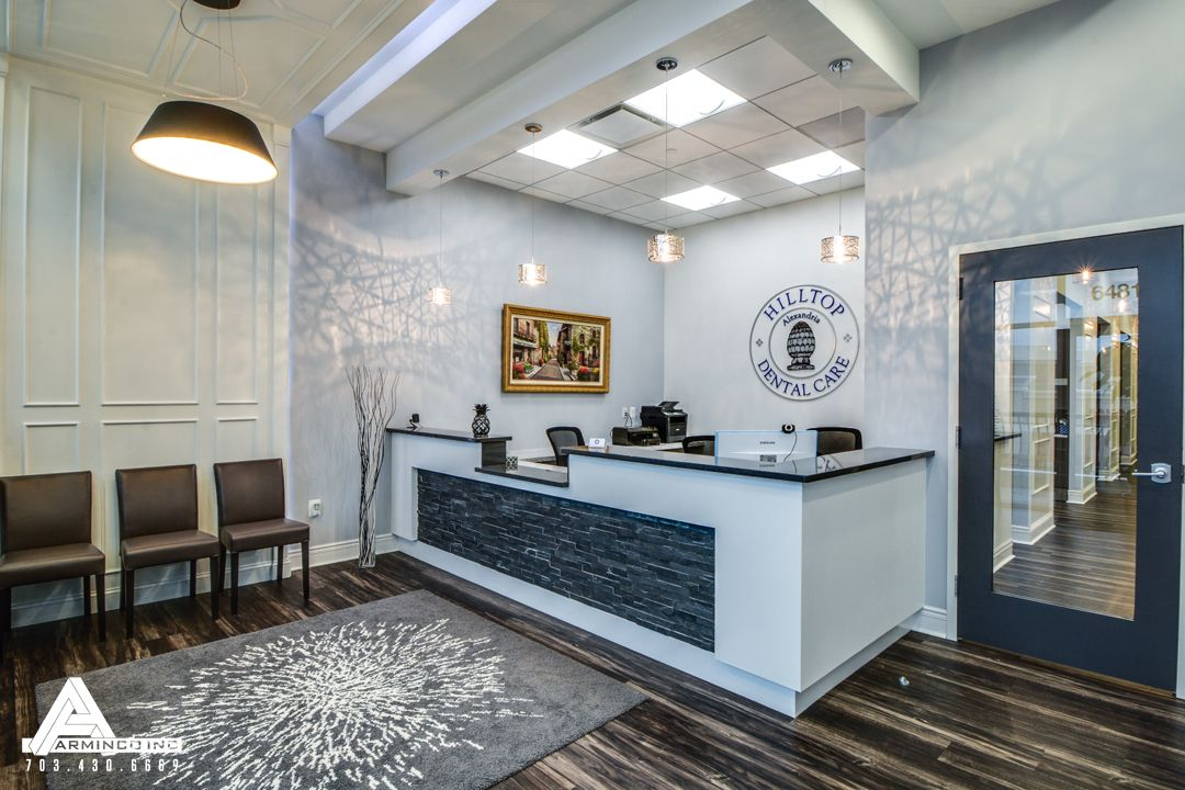 Classic contemporary waiting room. dental office design by arminco