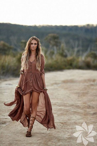 Very fashionable to wear bohemian dress this season