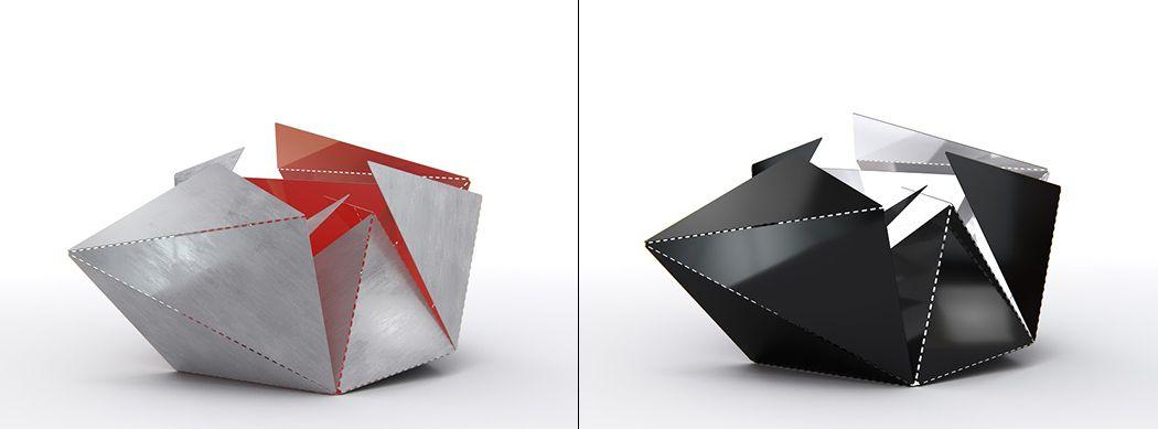 The Origami Lamp Of Steel Yanko Design Diy Pinterest