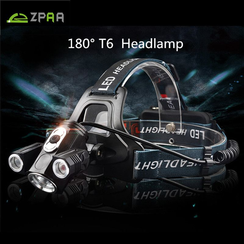 Zpaa 360 Degree Lighting Bike Led Headlight T6 Led Head Torch Flashlight 10000 Lumens 18650 Led Head Lamp Front Bicycle Light Bike Led Led Headlights Headlamp