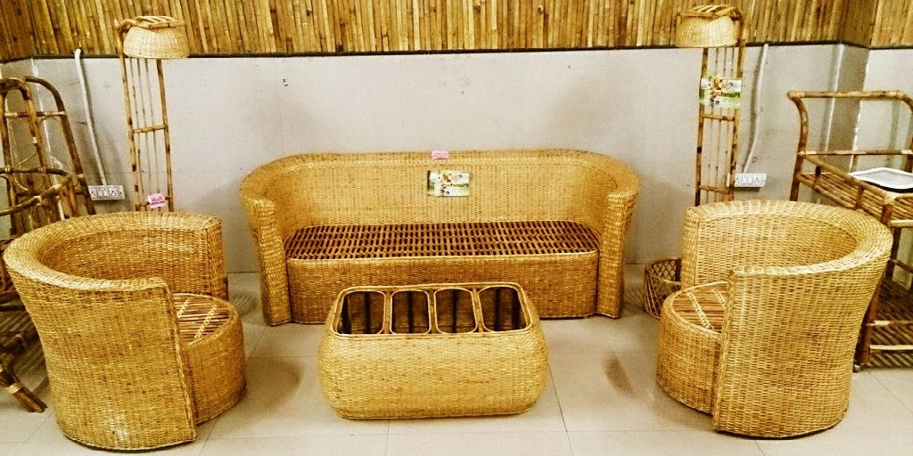 Superieur Modern Bamboo Sofa Set