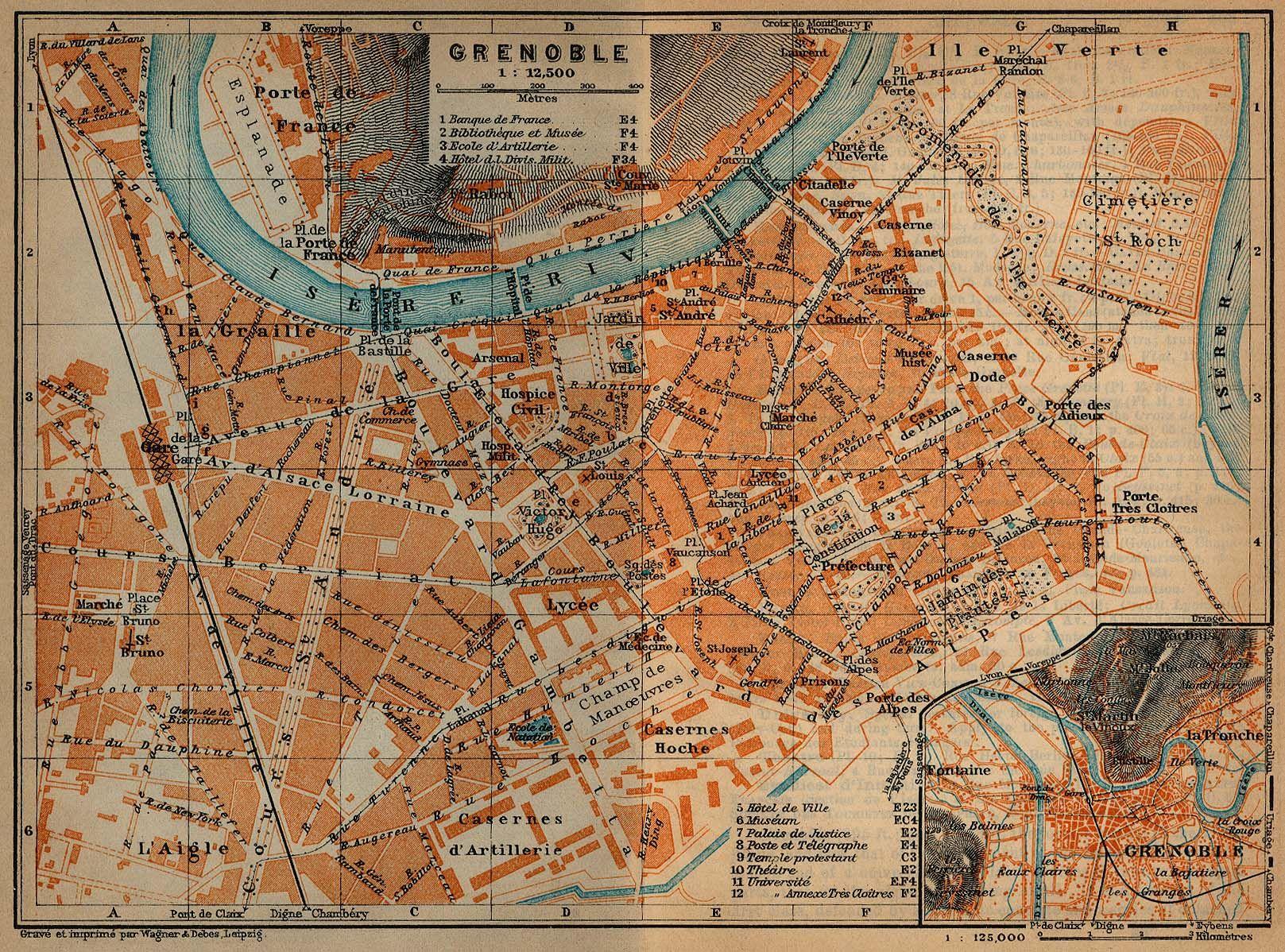 grenoble france map