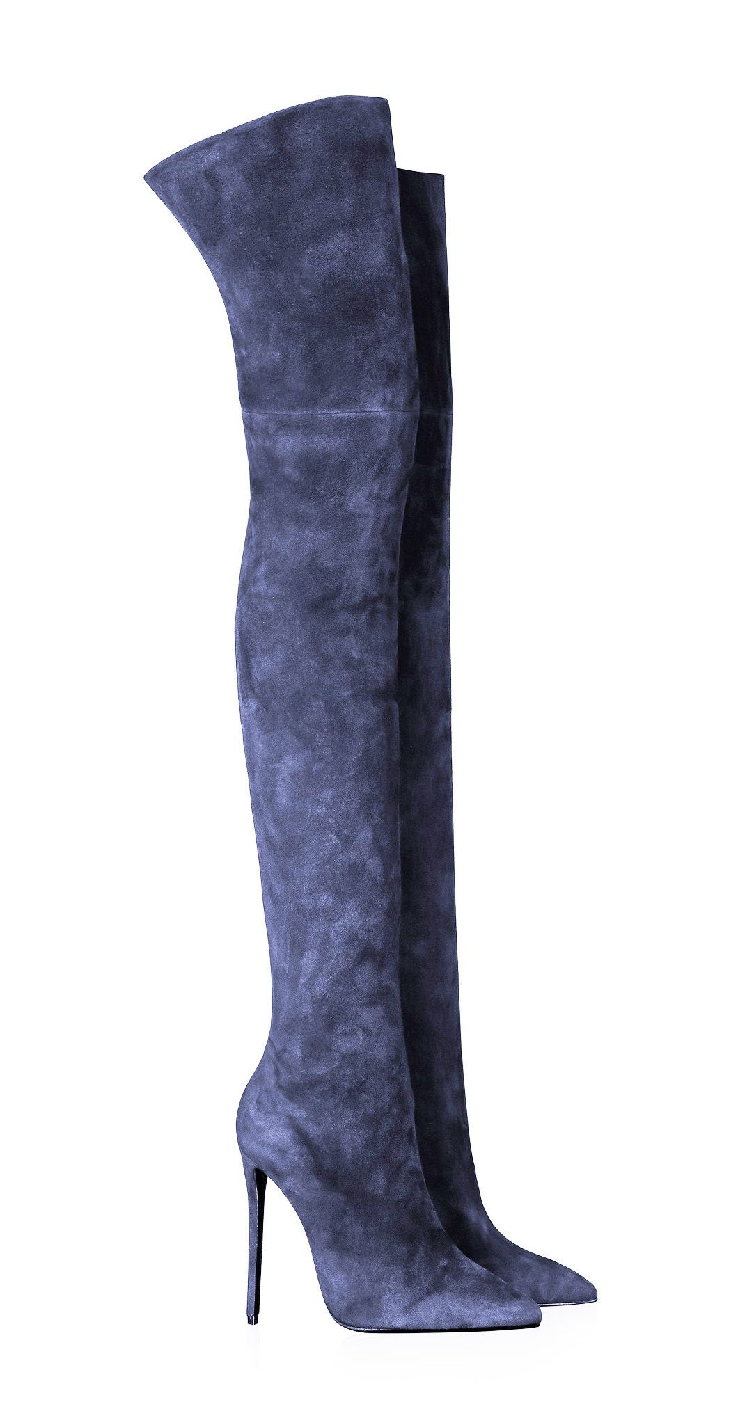 Adela King blue suede thigh high boots | Boots | Pinterest | High ...