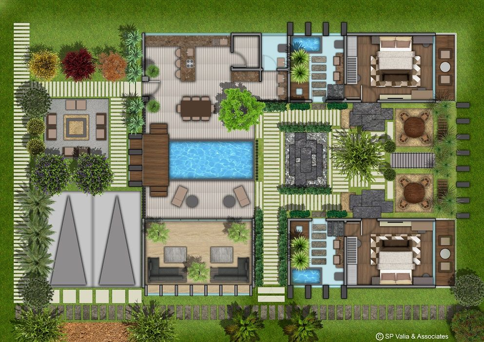 Farm House Layout Layout Architecture House Layouts House Exterior