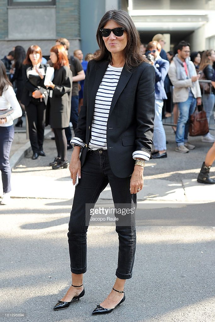 Emanuelle Alt is seen arriving at Emporio Armani during Milan Fashion Week Womenswear Spring/Summer 2014 on September 20, 2013 in Milan, Italy.
