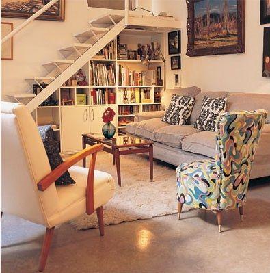 Espacio debajo de las escaleras deco pinterest for Decoracion de aseos