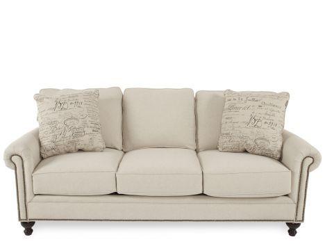 BROY 6751 38371 82E Broyhill Harrison Linen Sofa | Mathis