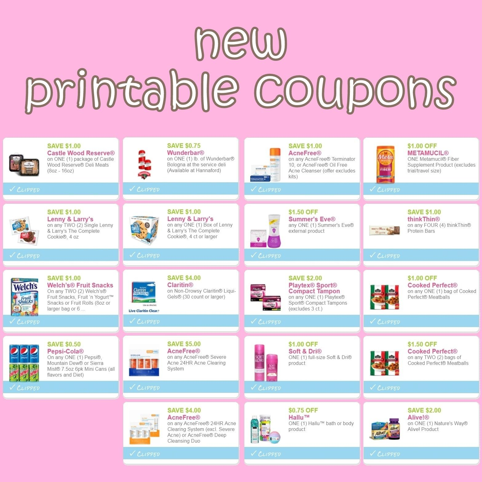 New Printable Coupons For Pepsi Playtex Summer S Eve More Direct Links Http Www Iheartcoupons Net 2018 08 New Pr Printable Coupons Coupons Playtex