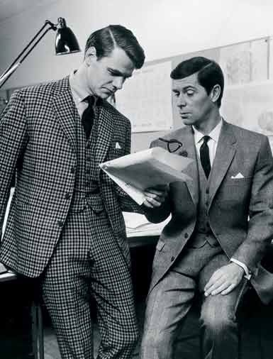 Men wearing suits in the sixties mensfashion