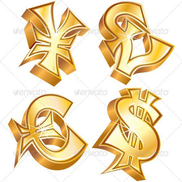 Gold Currency Symbol Symbols Pinterest Currency Symbol