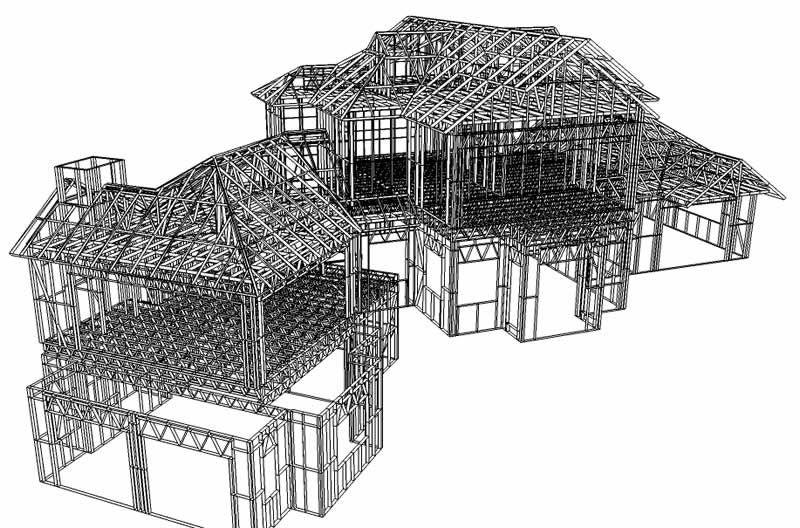 Light Gauge Steel Frame Design And Construction Steel Frame Construction Steel Frame Steel Frame House