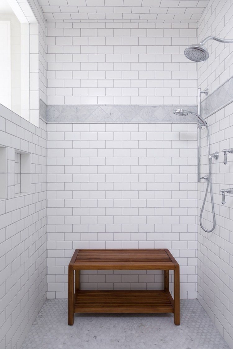 How To Make Subway Tile Look Classic Not Basic Room For Tuesday Classic Bathroom White Subway Tile Shower Classic Bathroom Design