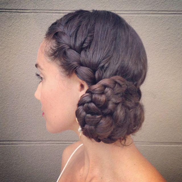 Curl On A Mission Curly Hair Styles Side Braid With Bun Curly Hair Braids