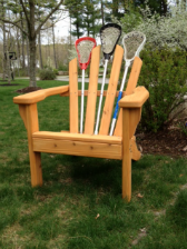 Lacrosse Stick Furniture Chair   Made With Recycled Lacrosse Sticks