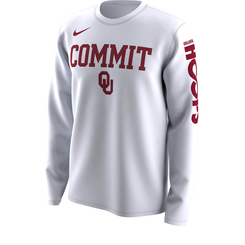 2e1faa69 Oklahoma Sooners Nike 2018 NCAA Men's Basketball Tournament March Madness  Bench Legend Performance Long Sleeve T-Shirt – White