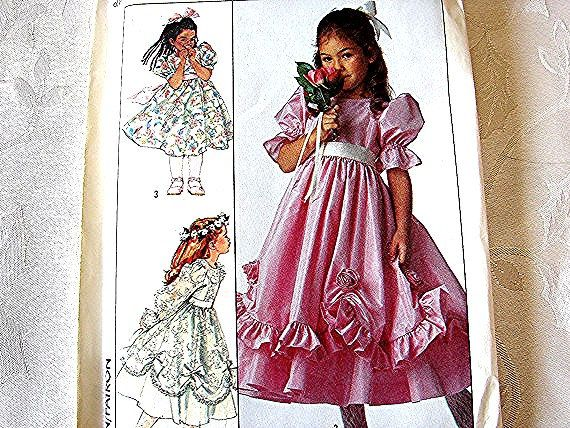 Simplicity Flower Girl Dress Pattern Childrens size 5 UNCUT Tea ...