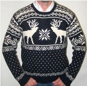 Ralph Lauren Mens Moose Intarsia Fairisle Sweater   For Levi ...