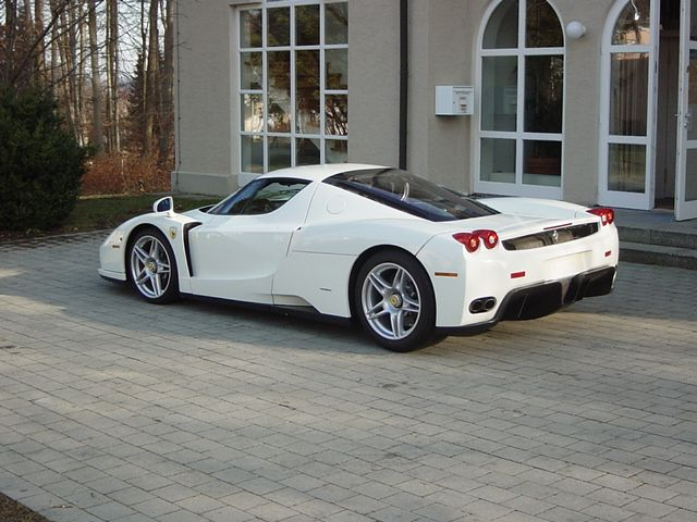1 275 000 00 Rare The Only Factory Painted White Ferrari Enzo