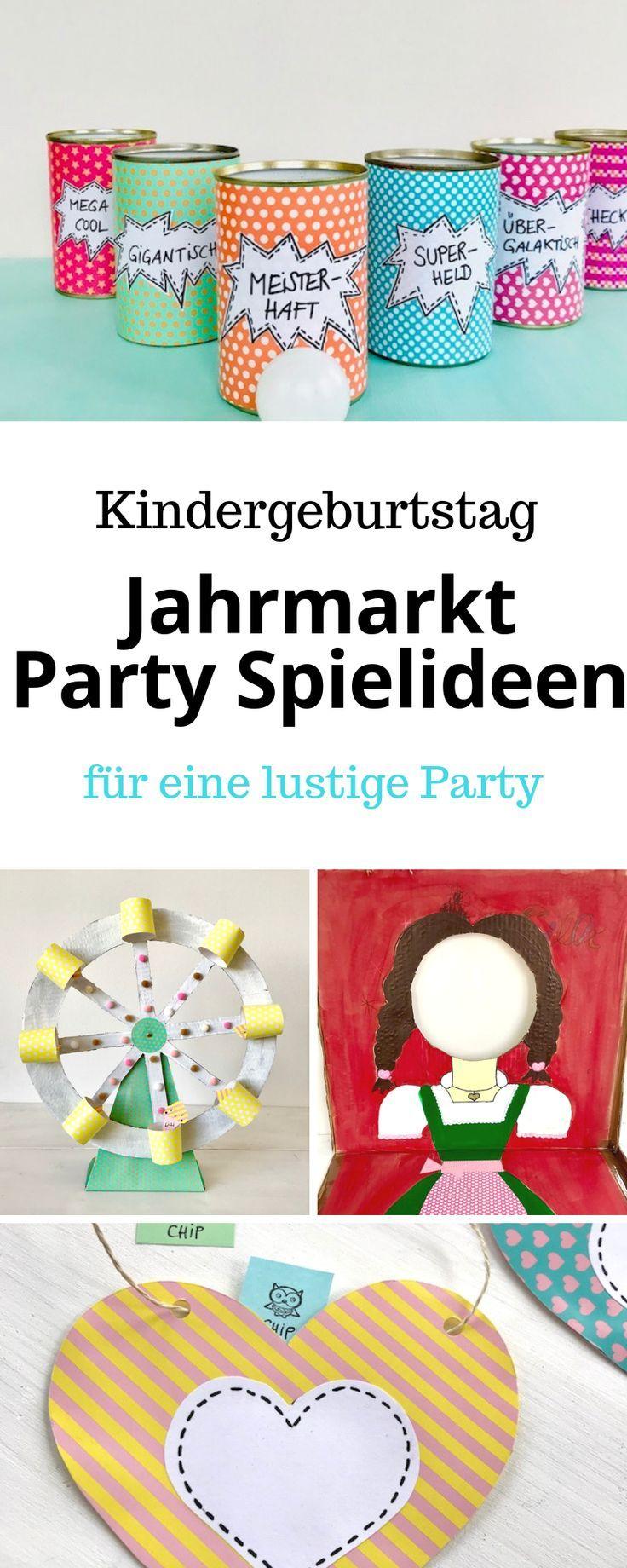 Motto Kindergeburtstag: Spiele für einen Jahrmarkt Kindergeburtstag - #partyideen