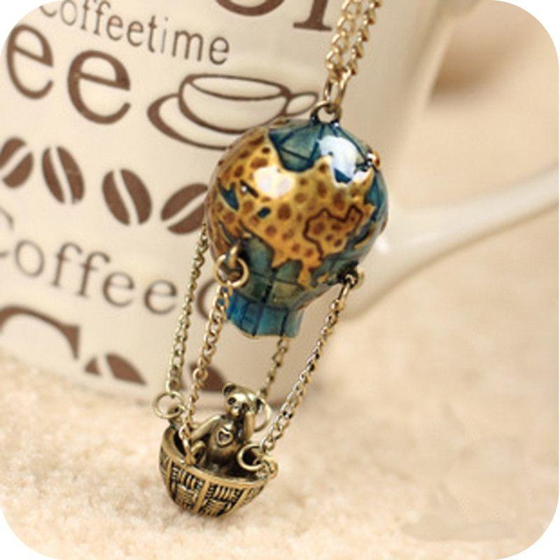 lemon value moda declaracin collier maxi bohemia vintage encantos panda colgantes collares largos joyera de las