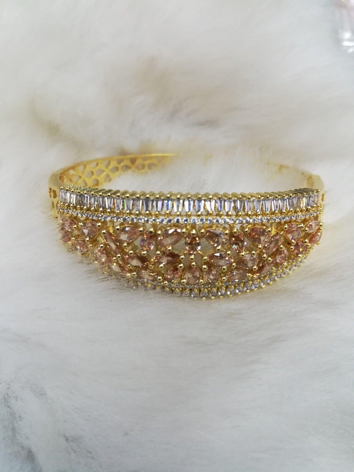 Champagne Bracelet Designs Jewelry Jewellery Necklace Earrings Fashionjewelry Women Womensfashion Abdesigns Abdesignindia