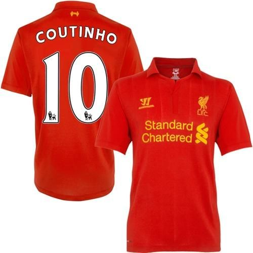 79dad18a4e5 liverpool 10 coutinho red home youth kids child short sleeves 2016 ...