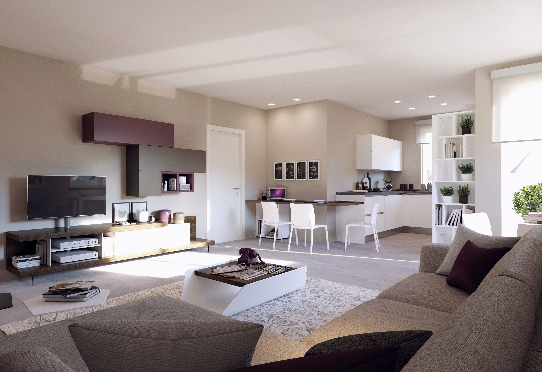 Dividere la stanza in zona pranzo e salottino; Open Sapce Open Space Arredamento Design Cucine Open Space Cucine Soggiorni Open Space Home Home Design Plans Open Space Kitchen And Living Room