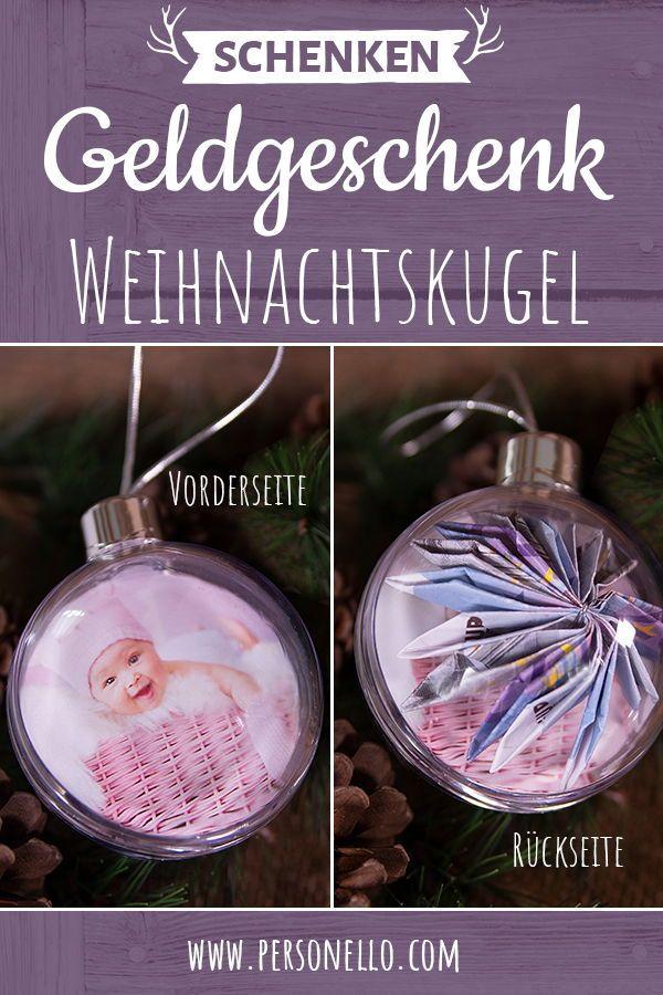 Einzigartiges Geldgeschenk Weihnachtskugel Mit Tollen Collagen Und