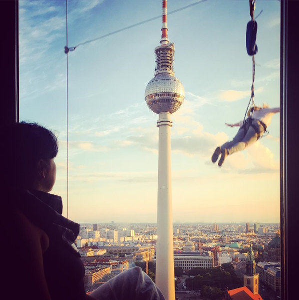 Ig Madyguntair Base Flying Flying Down 125 Meters From The Roof Of The Park Inn Hotel Berlin Alexanderplatz Parkinn Addingcolourtolife