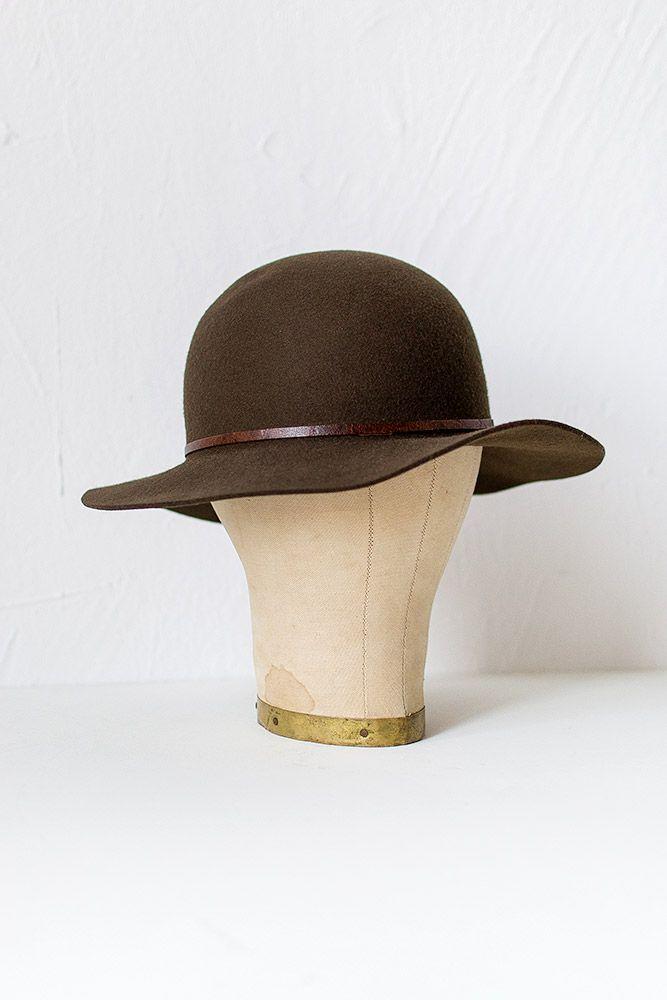 Brown Wool Felt Floppy Hat at ornhansen.com