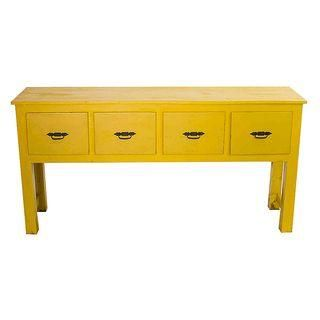 Southwestern Yellow Console Table Yellow Furniture Color
