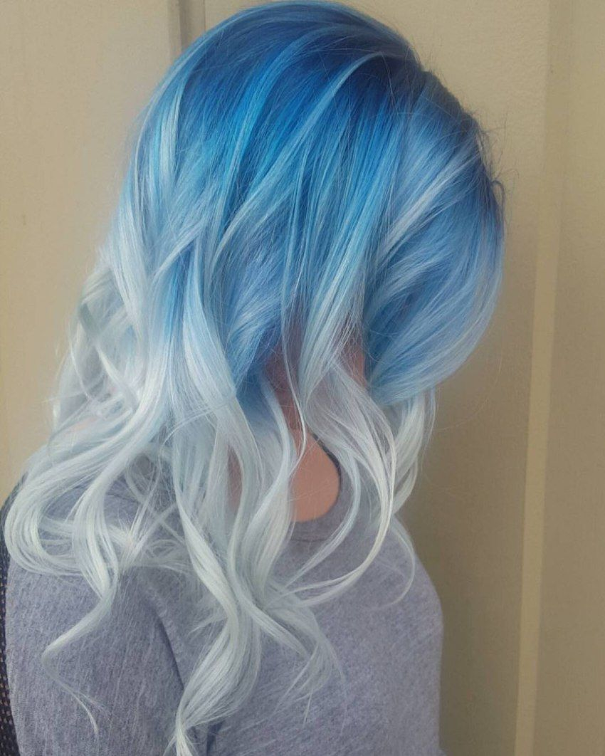 icy light blue hair color ideas for girls in hair
