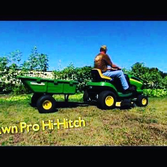 Towing And Hitch Capability With Your Lawnmower Can Be Achieved With The Hi Hitch Riding Mower Lawn Mower Yard Cart