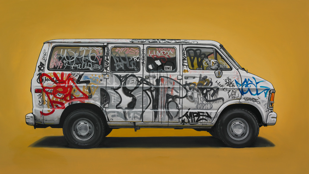 Unusual Vehicles Oil Paintings by Kevin Cyr